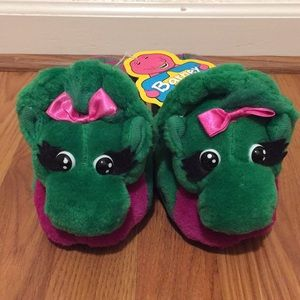 NWT Vintage Baby Bop-Barney Slippers